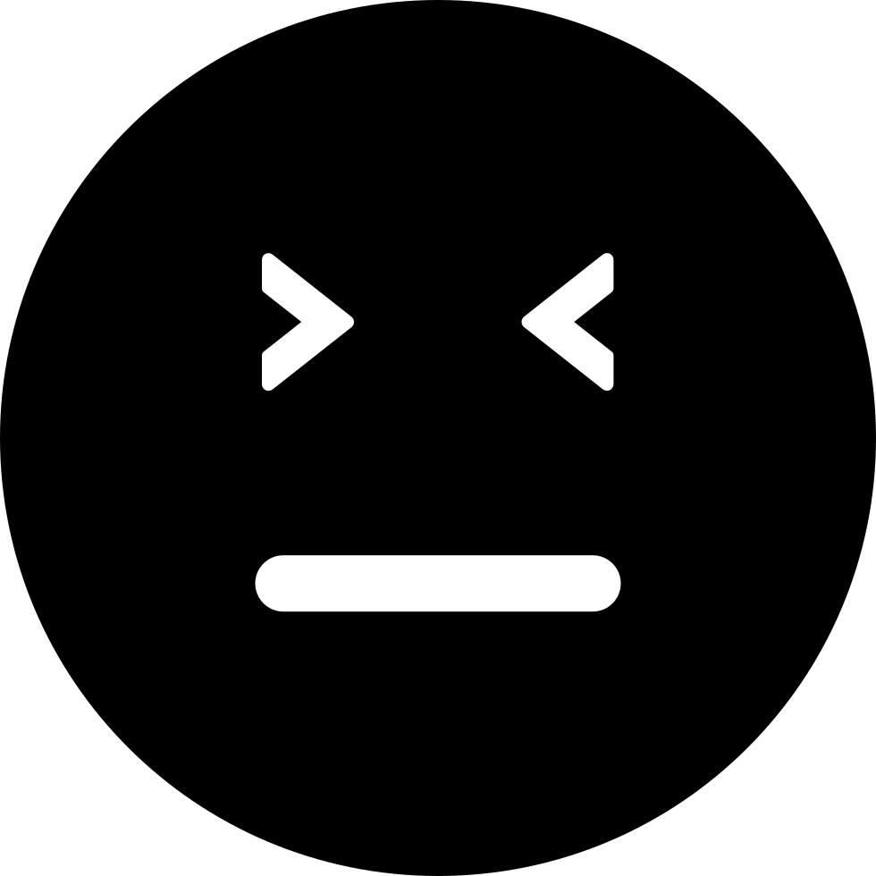 Emoticon Square Face With Closed Eyes And Straight Mouth Line