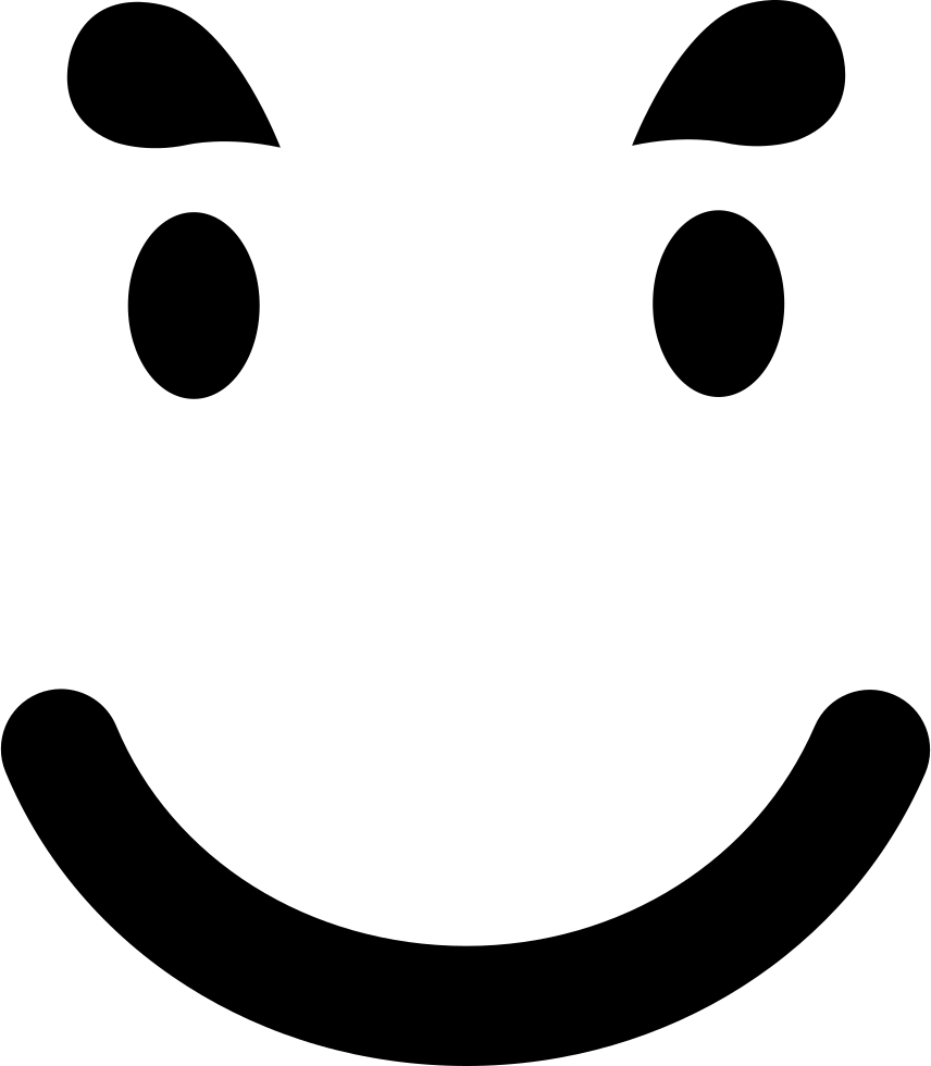 Smiling Emoticon Face In A Square