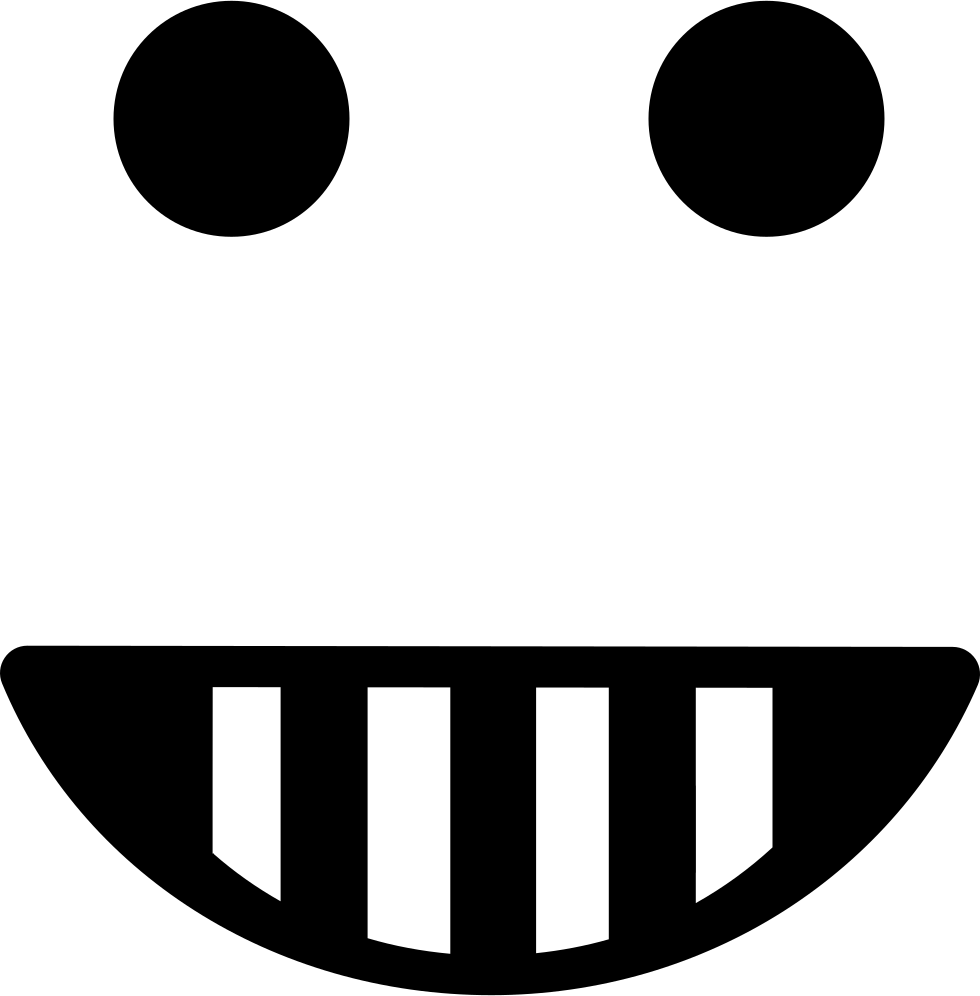 Emoticon Happy Smiling Square Face Shape