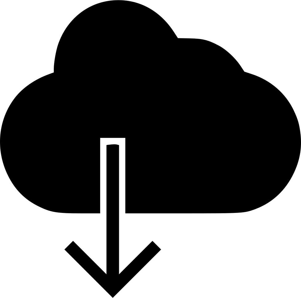 Cloud With Downward Arrow