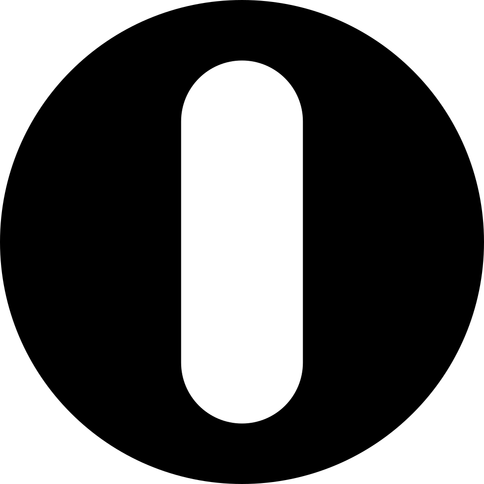 Letter O Or A Bar In A Circle