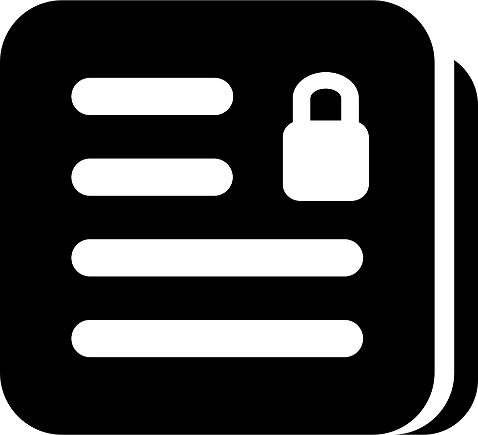 Document Lock Interface Security Symbol