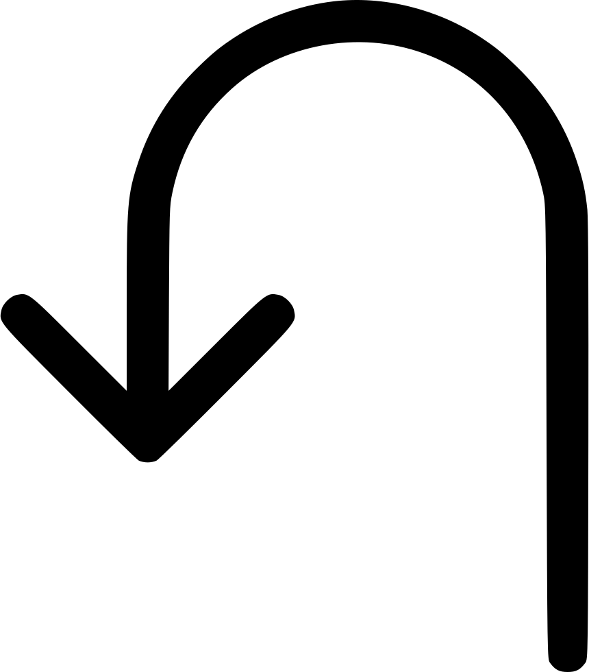 Turn Left Back Arrow