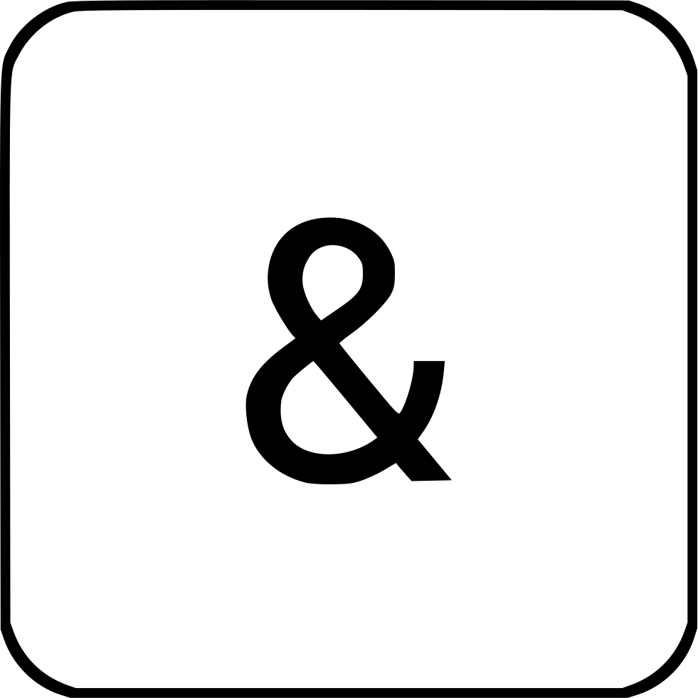 Ampersand Virtual Keyboard Sign Logic Element
