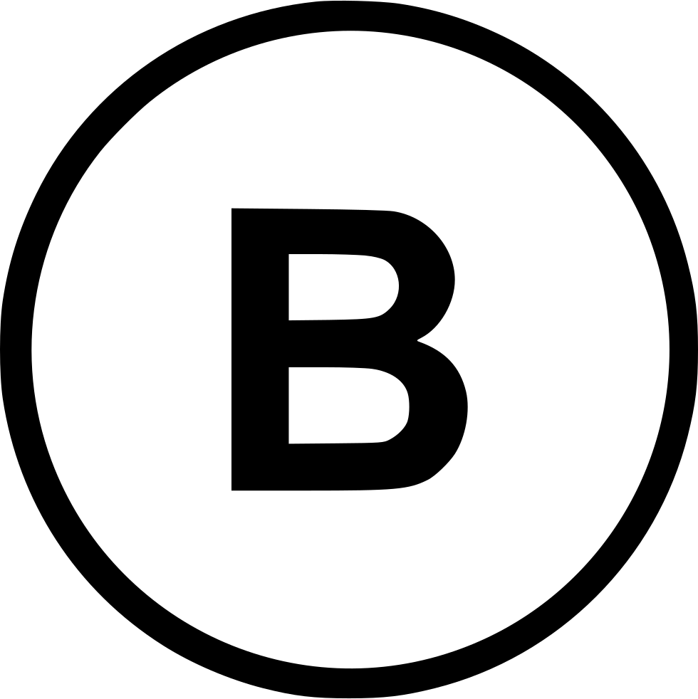 B Bold Weight Format Text Letter Round