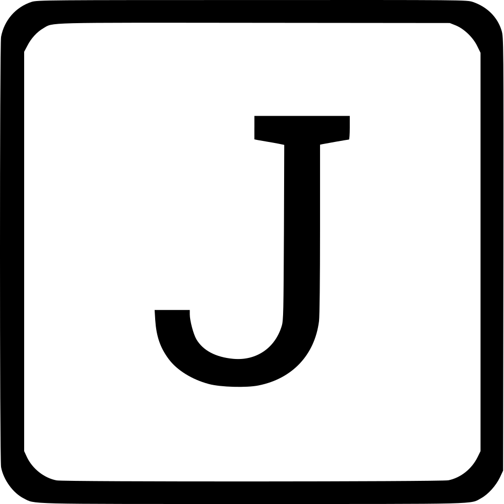 J Uppercase Latin Keyboard