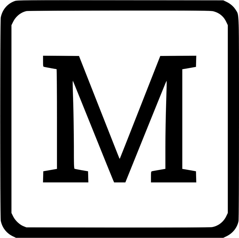 M Uppercase Latin Keyboard