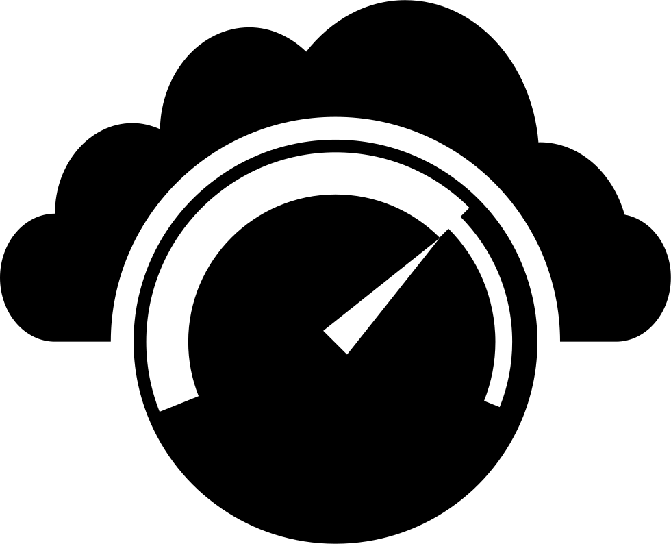 Speedometer In Front Of A Cloud Silhouette