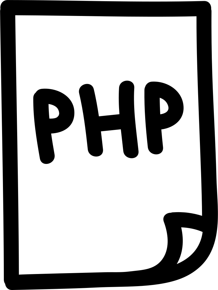 Php File Hand Drawn Interface Symbol
