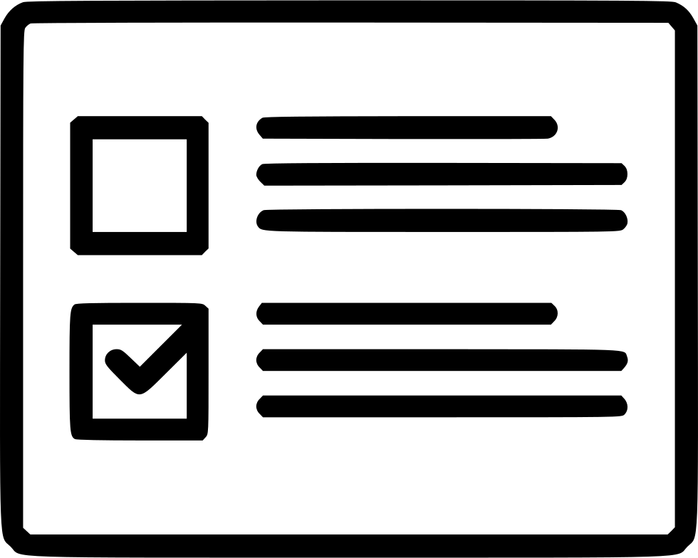 Wireframe Grid List Checkboxes