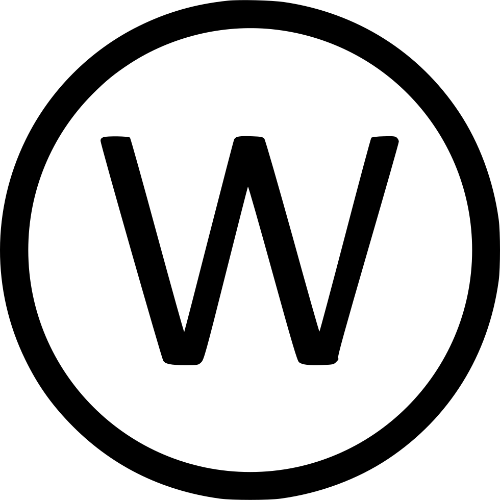 Letter W Uppercase Virtual