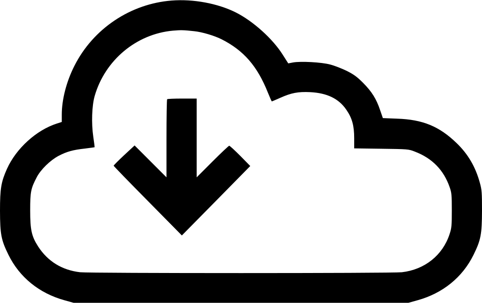 Download Arrow Down Cloud Data Stream Storage
