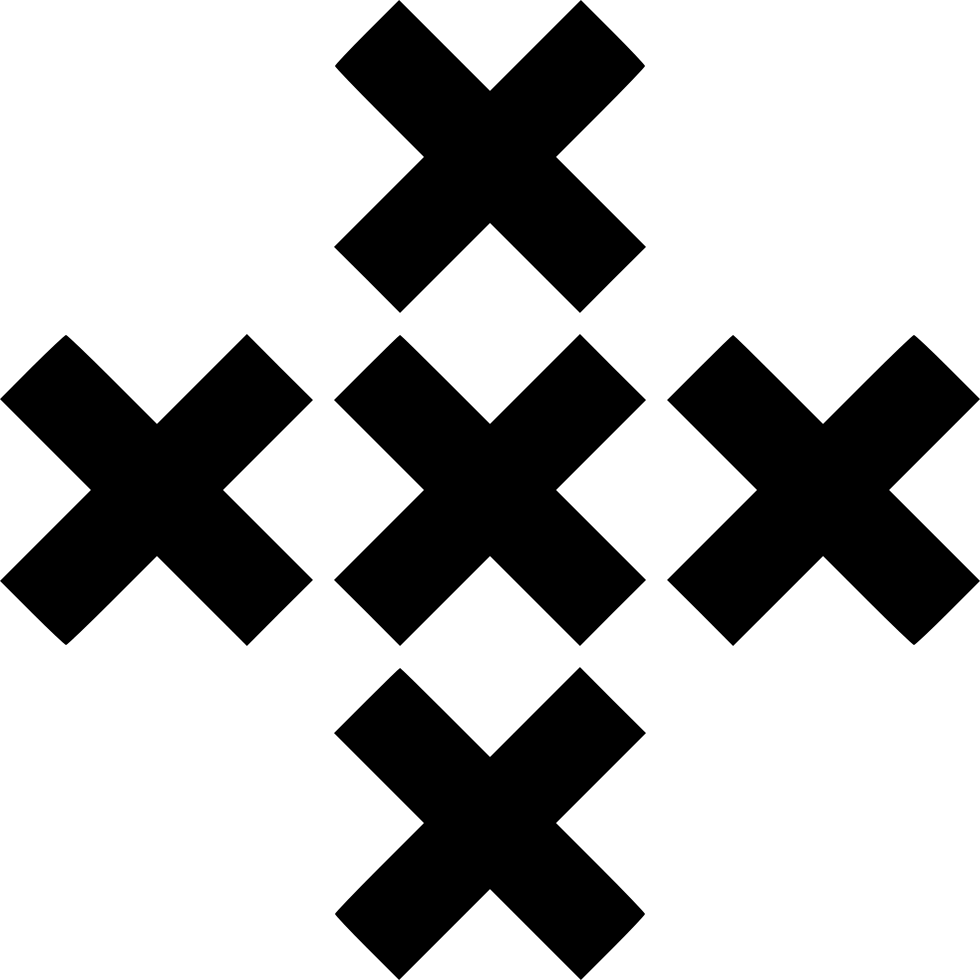 Five X Cross Plus Sign
