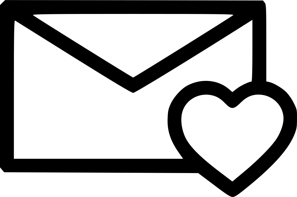 heart like love newsletter message svg png icon free