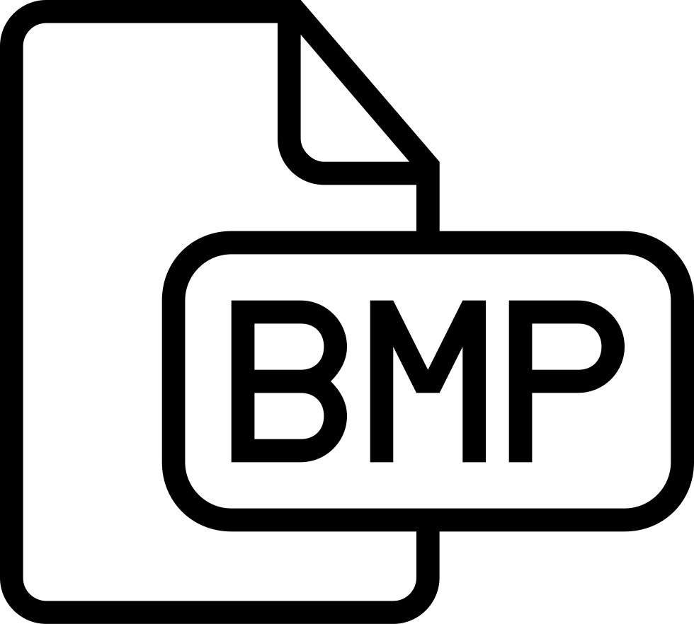 Bmp Image File Type Outlined Interface Symbol