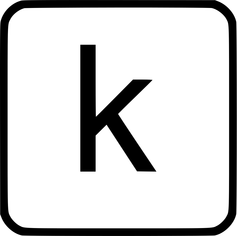 Alphabet Lowercase K