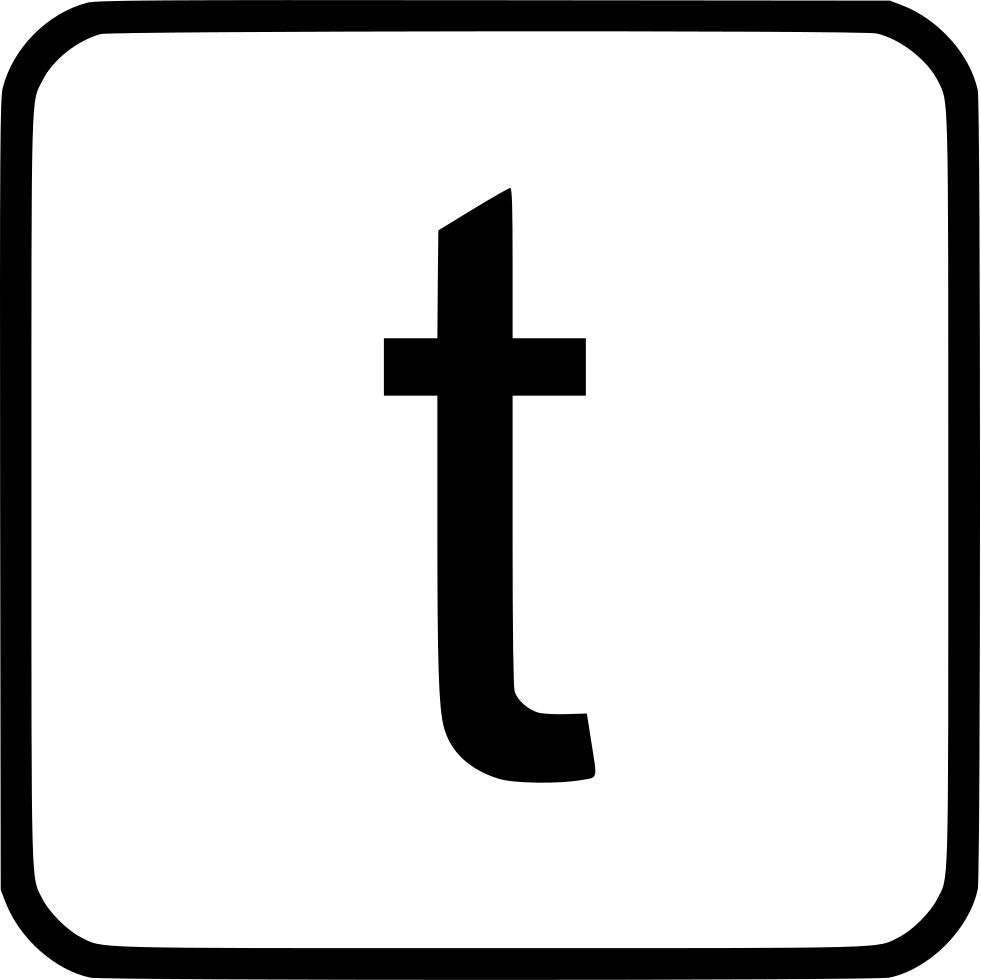 Alphabet Lowercase T