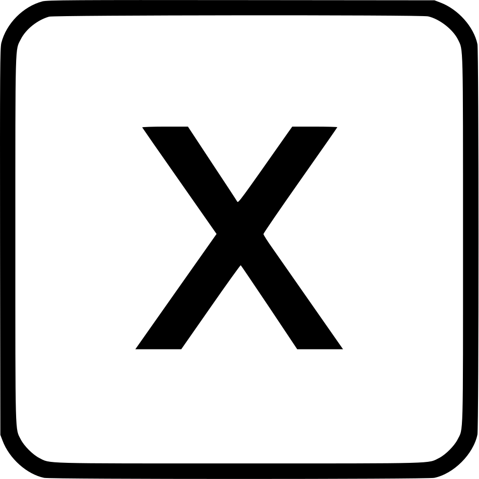 Alphabet Lowercase X