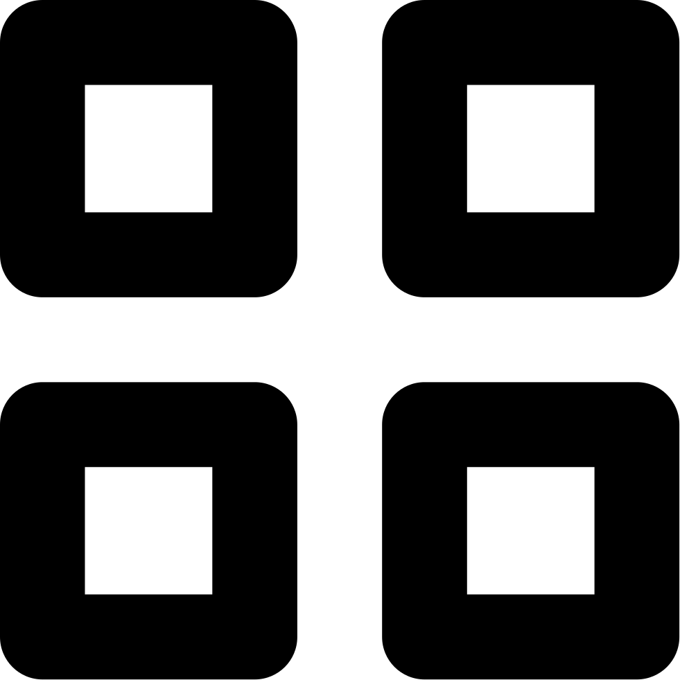 Visualization Option Button Of Four Squares