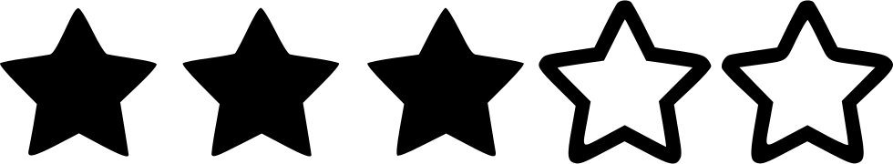 Three Star Rating Svg Png Icon Free Download (#530227 ...