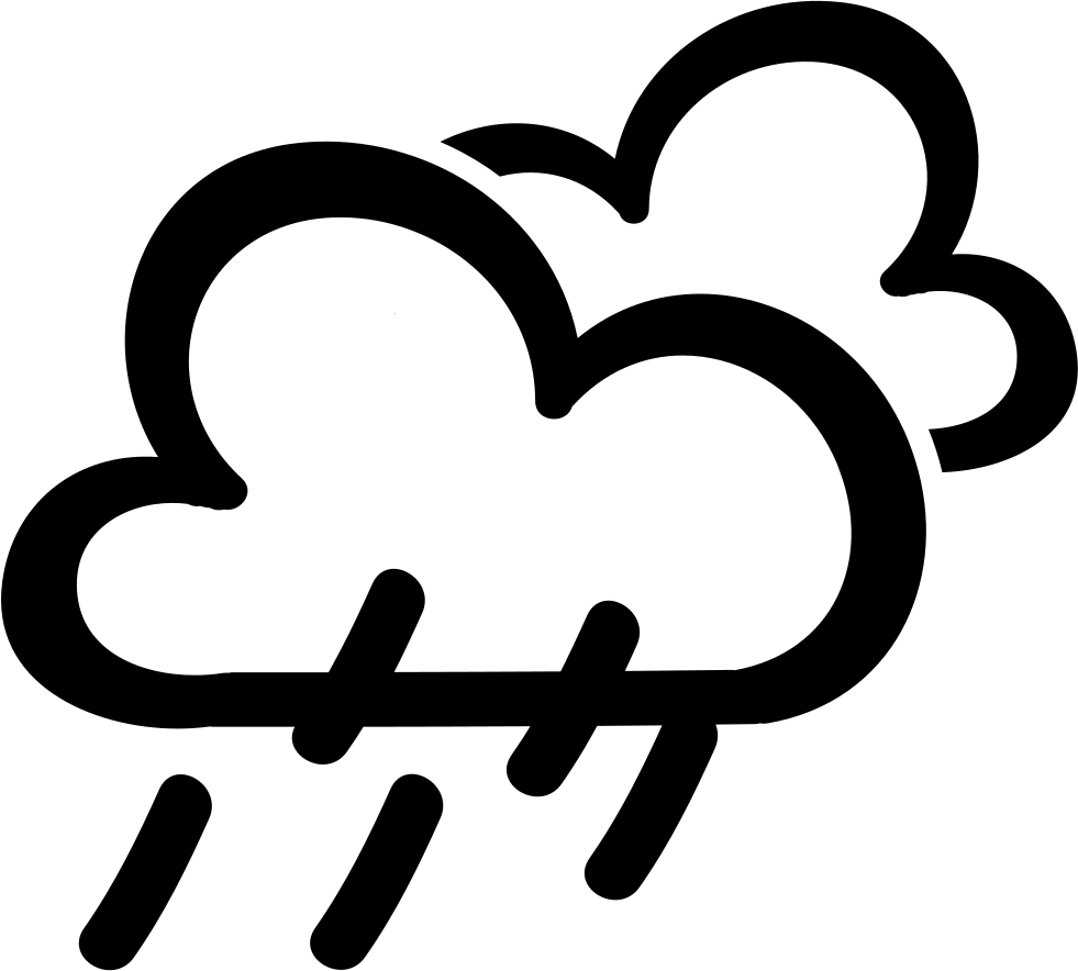 Rain Weather Hand Drawn Symbol