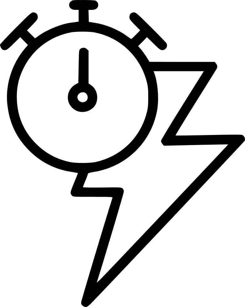 Speed Timer Lightening Bolt