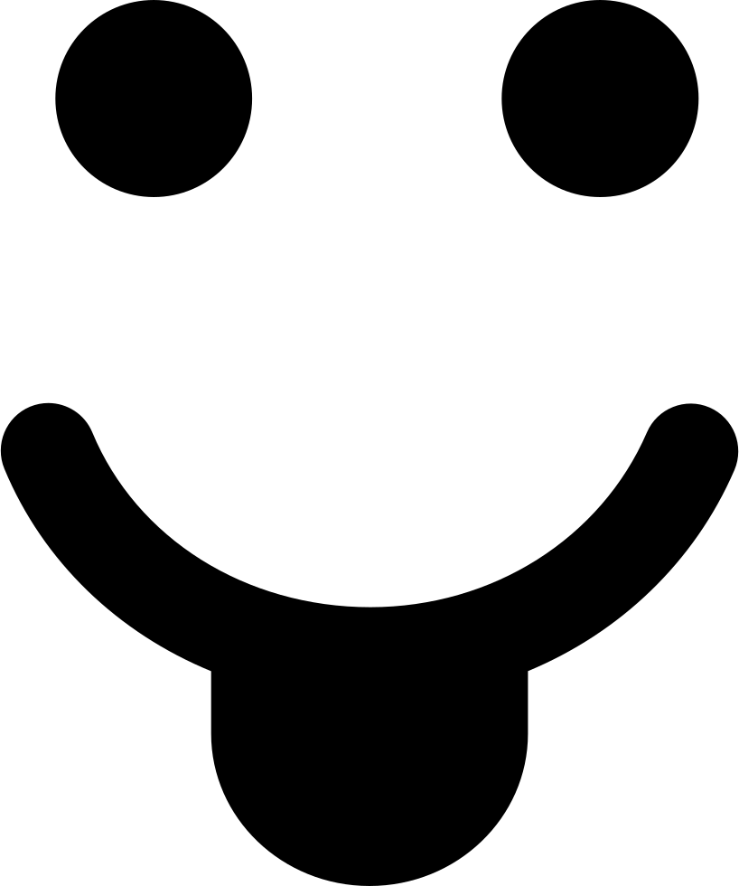 Smiley With Tongue In A Square Shape