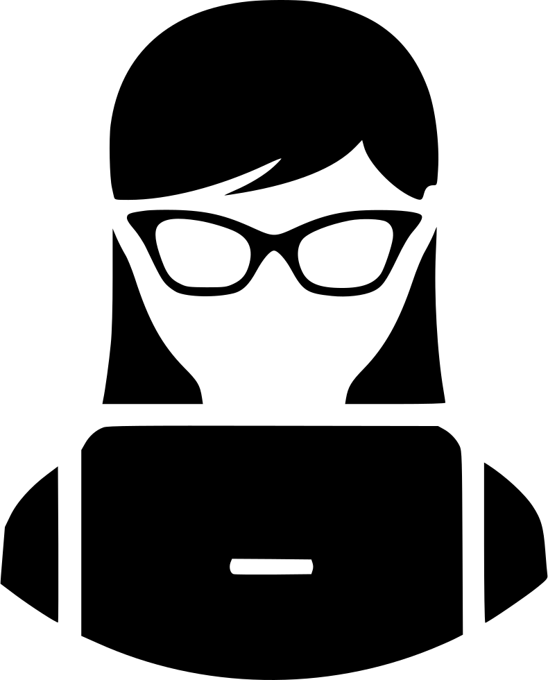 Student Lady Nerd Laptop Svg Png Icon Free Download