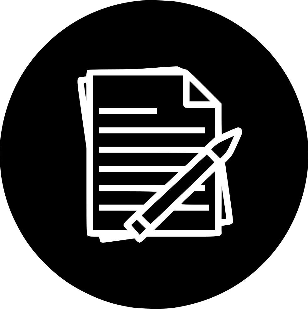 Notes Pen Pencil Paper Study Report Svg Png Icon Free ...