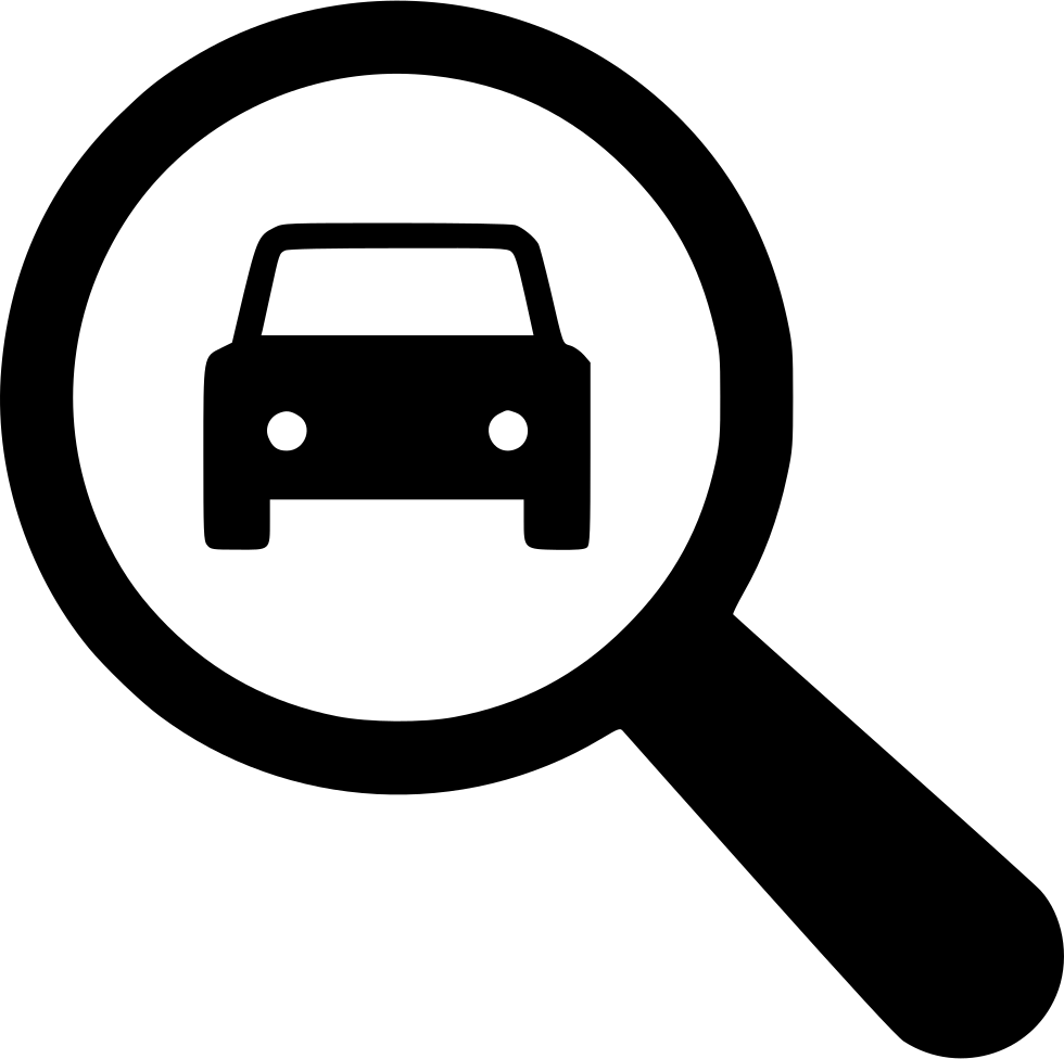 Magnifying Glass With Automobile