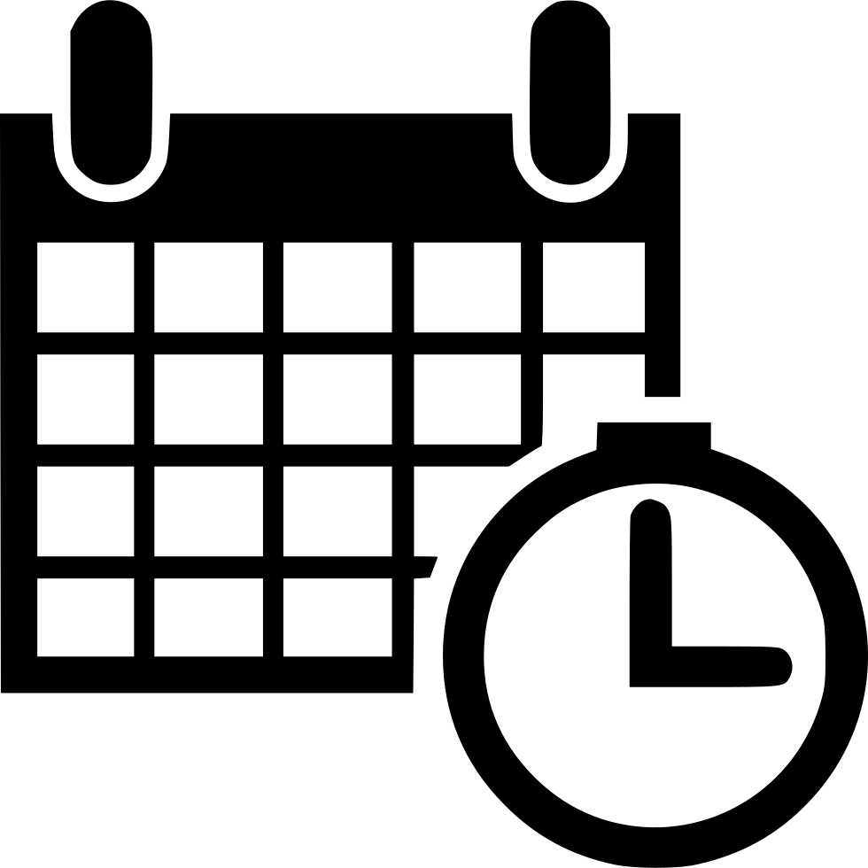 calendar time schedule event planning gantt svg png icon