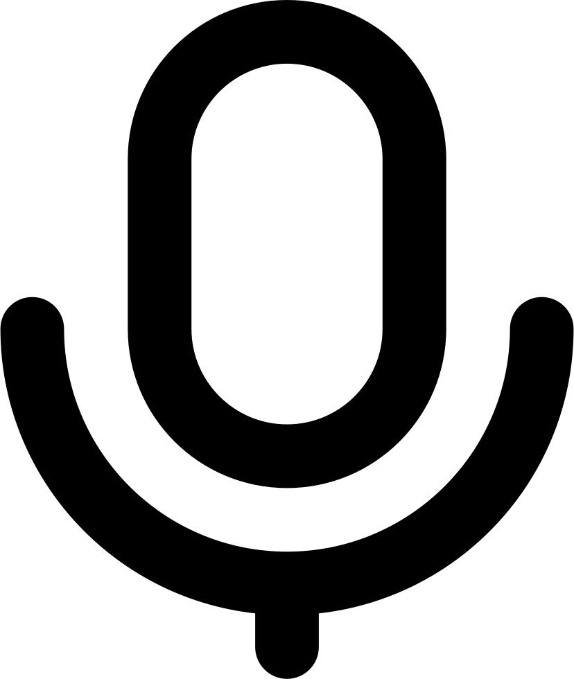 Voice Microphone Intreface Symbol