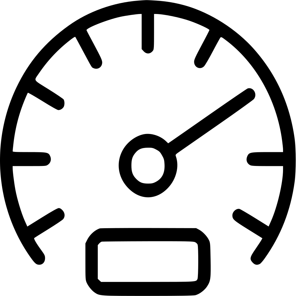 gauge dashboard speedometer odometer speed svg png icon