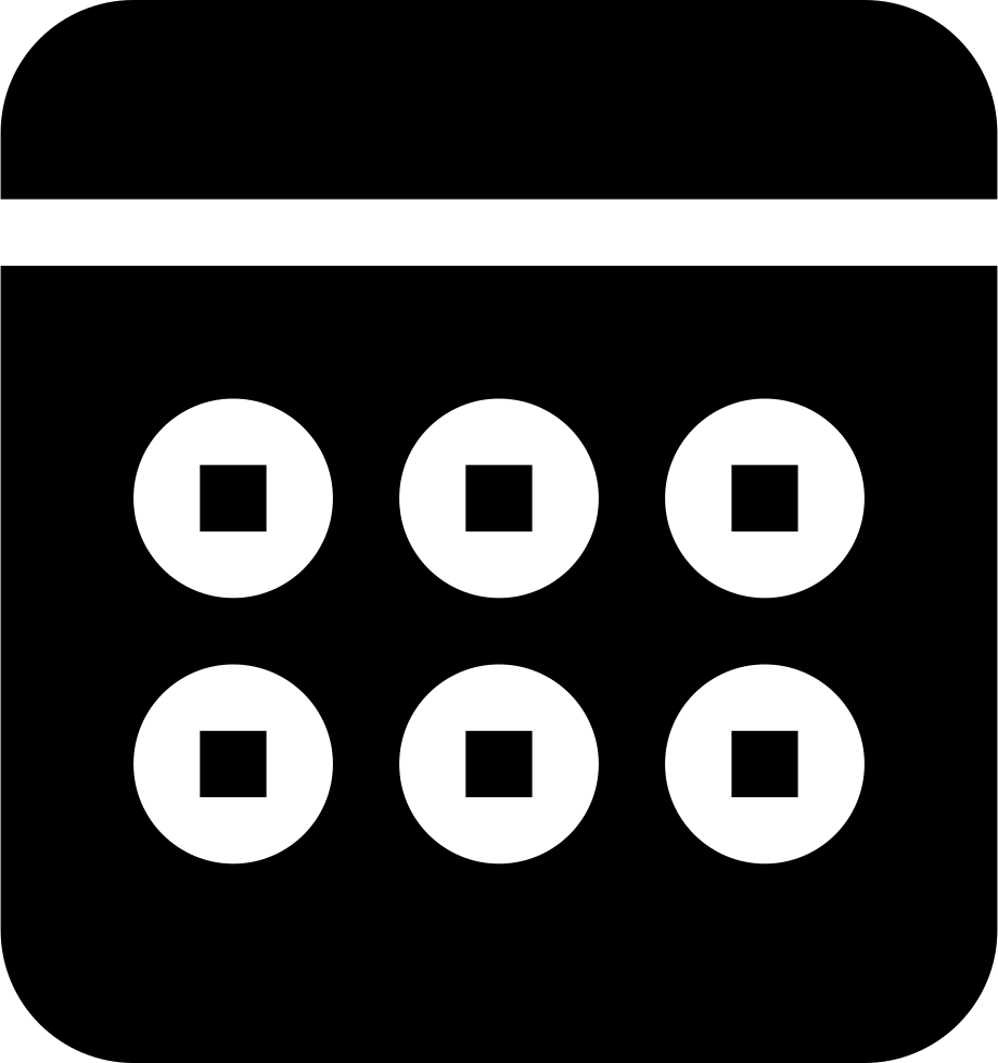 Weekly Calendar Black Event Interface Symbol