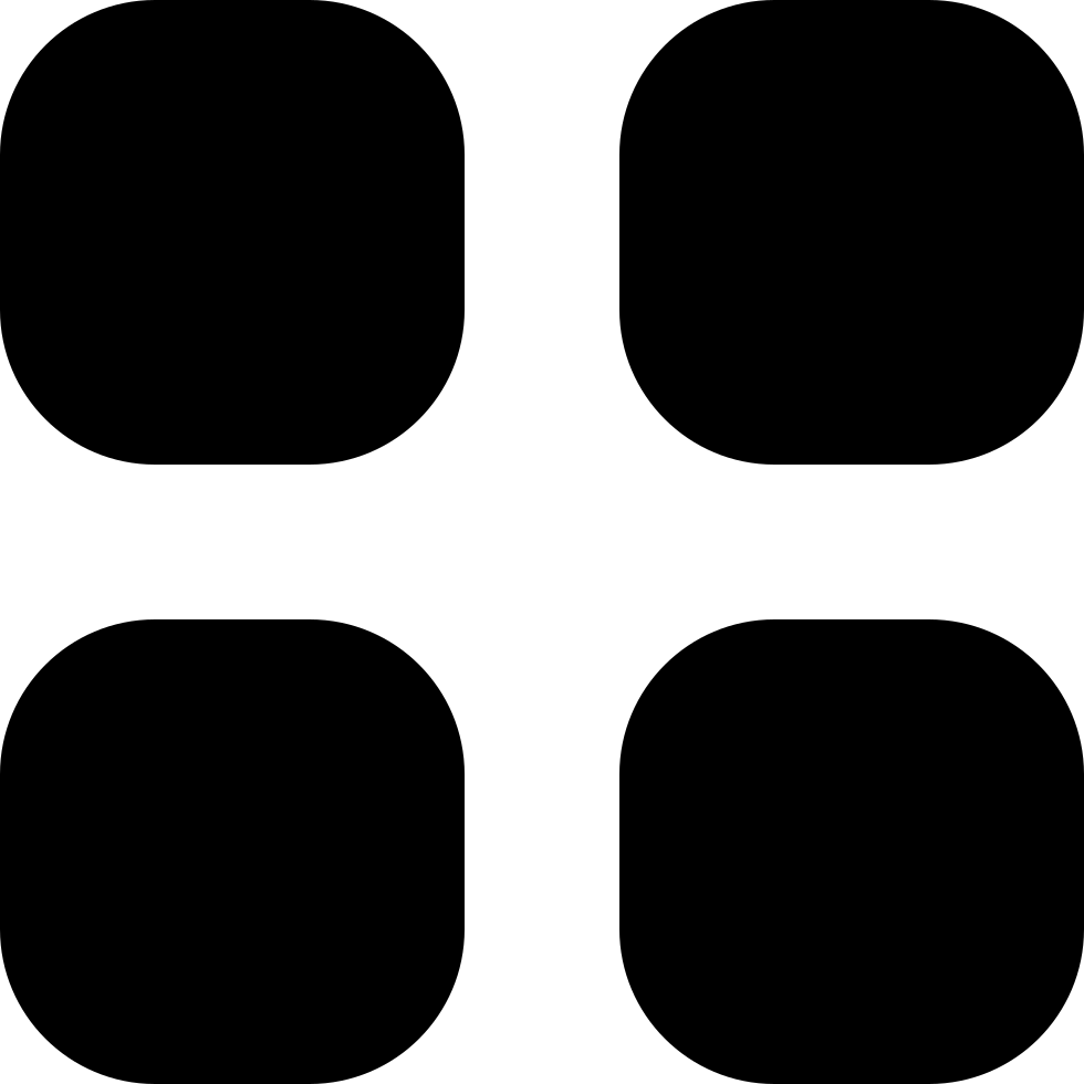 Four Black Buttons Keyboard Of Rounded Squares