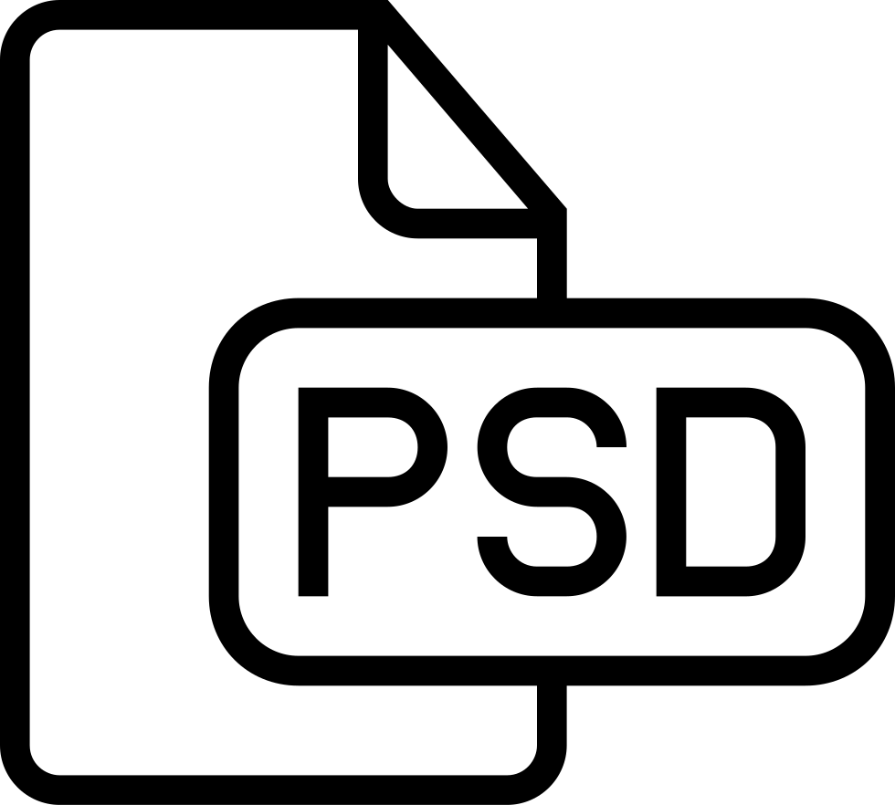 Psd Document Stroke Symbol