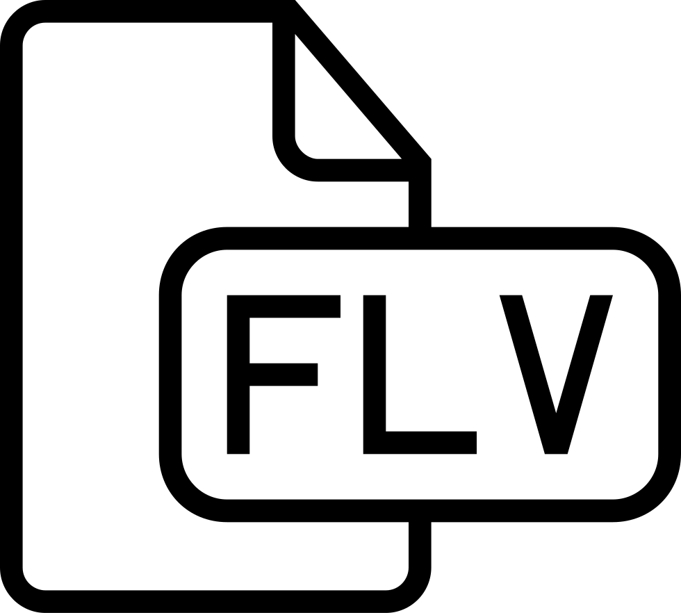 Flv File Outlined Interface Symbol