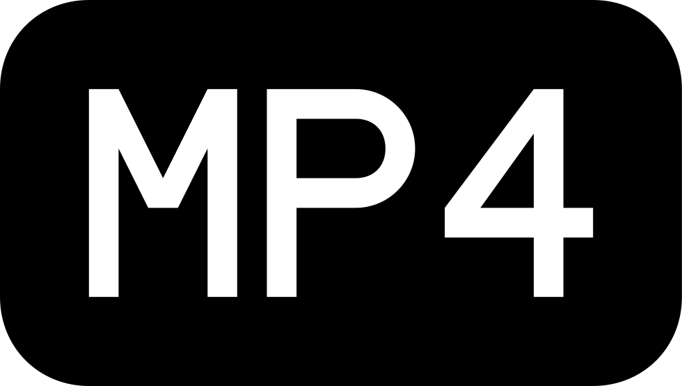 Mp4 Rounded Rectangular Black Interface Symbol