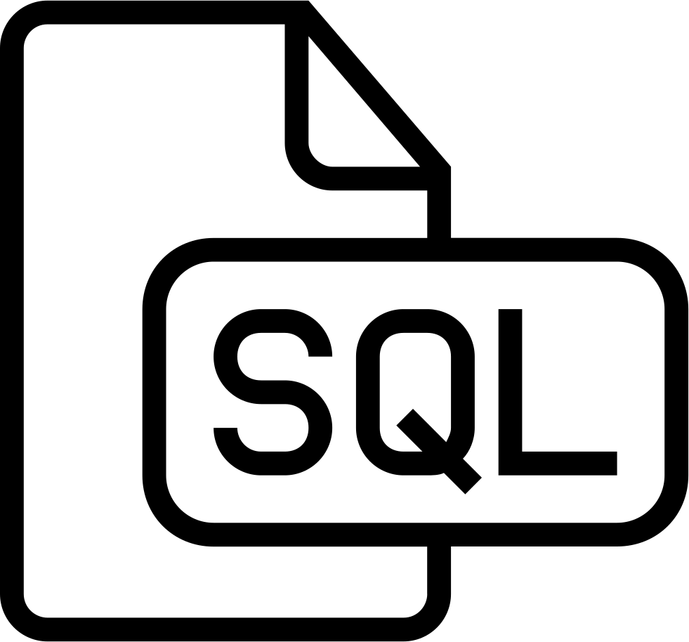Sql Document Outlined Interface Symbol