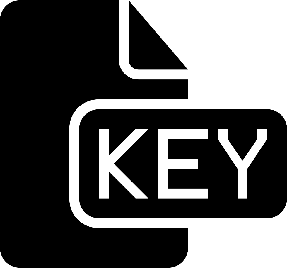 Key Black File Type Interface Symbol