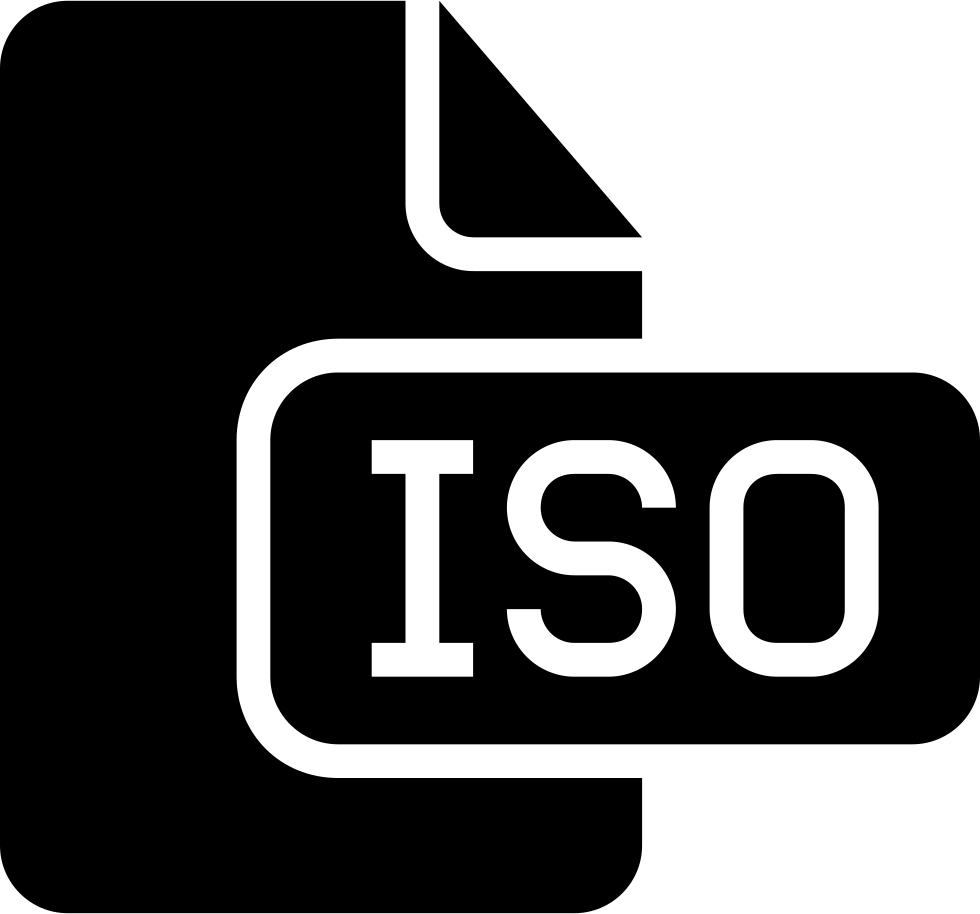 Iso File Type Black Solid Interface Symbol
