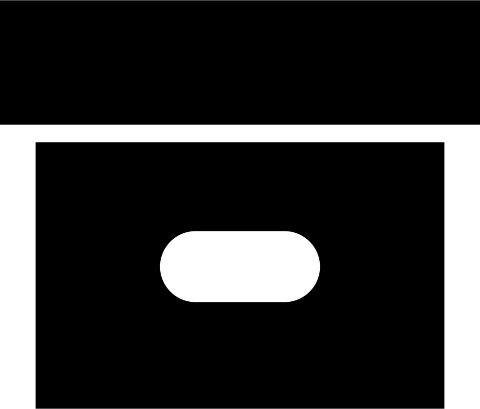 Archive Black Solid Box Interface Symbol