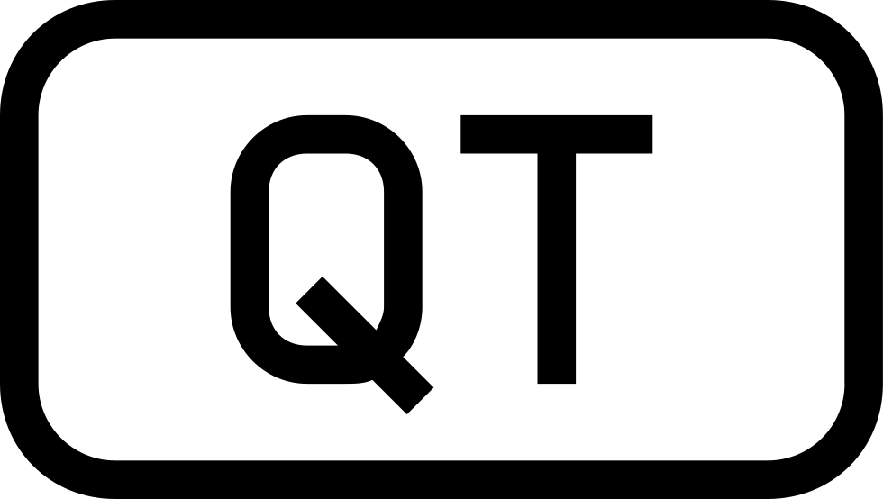 Qt File Interface Symbol Of Outlined Rounded Rectangle