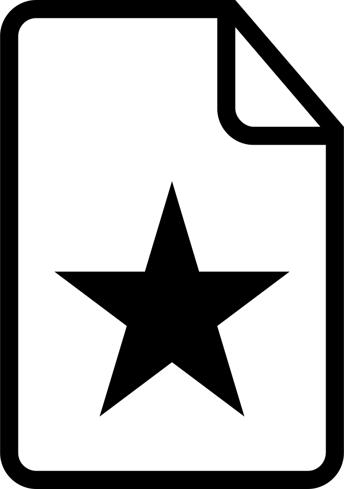 Favorite Document Symbol Of Interface With A Star