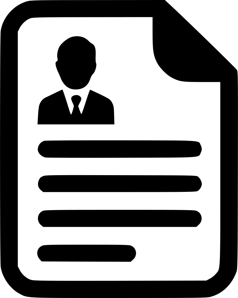 cv contract agreement resume paper document svg png icon