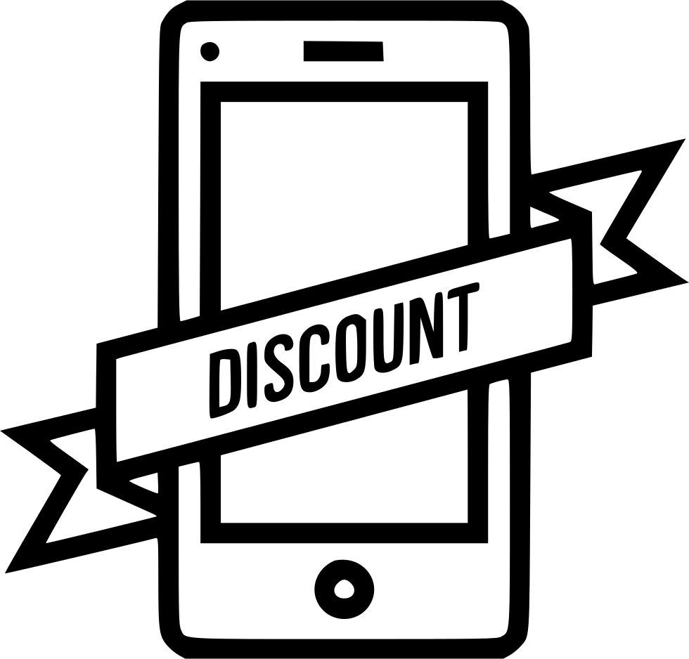 Discount Mobile Ribbon Label Tag Sticker