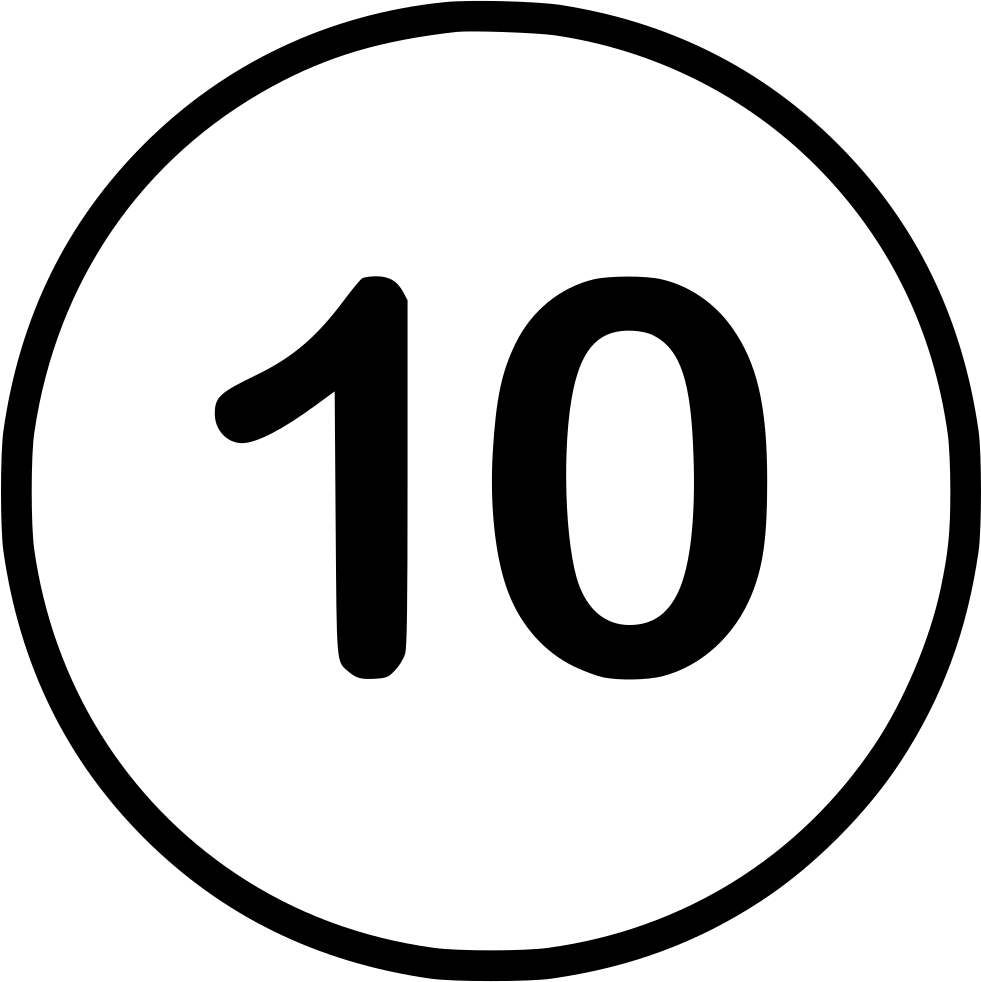 10: Number Ten Svg Png Icon Free Download (#544148