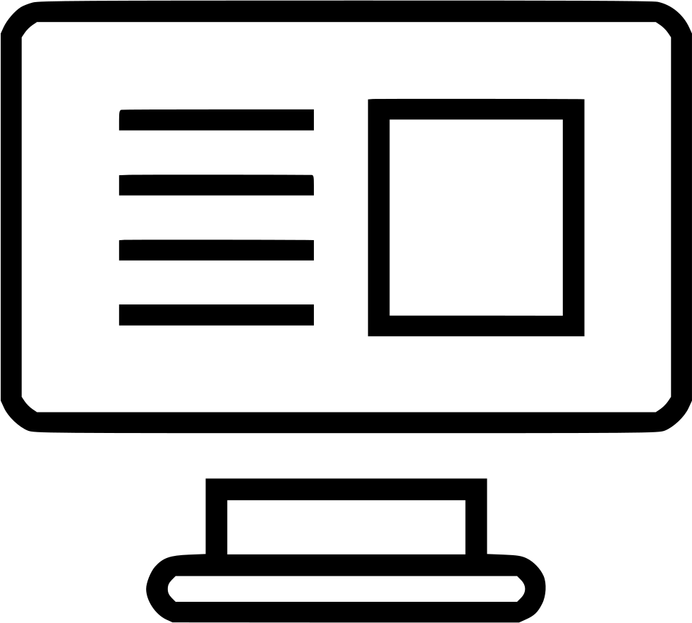 Wireframe Computer Screen Monitor Web