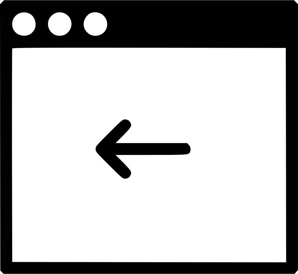 Window Arrow Back
