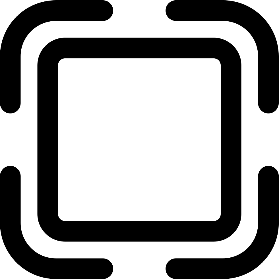Button Outline Of Rounded Square Shape